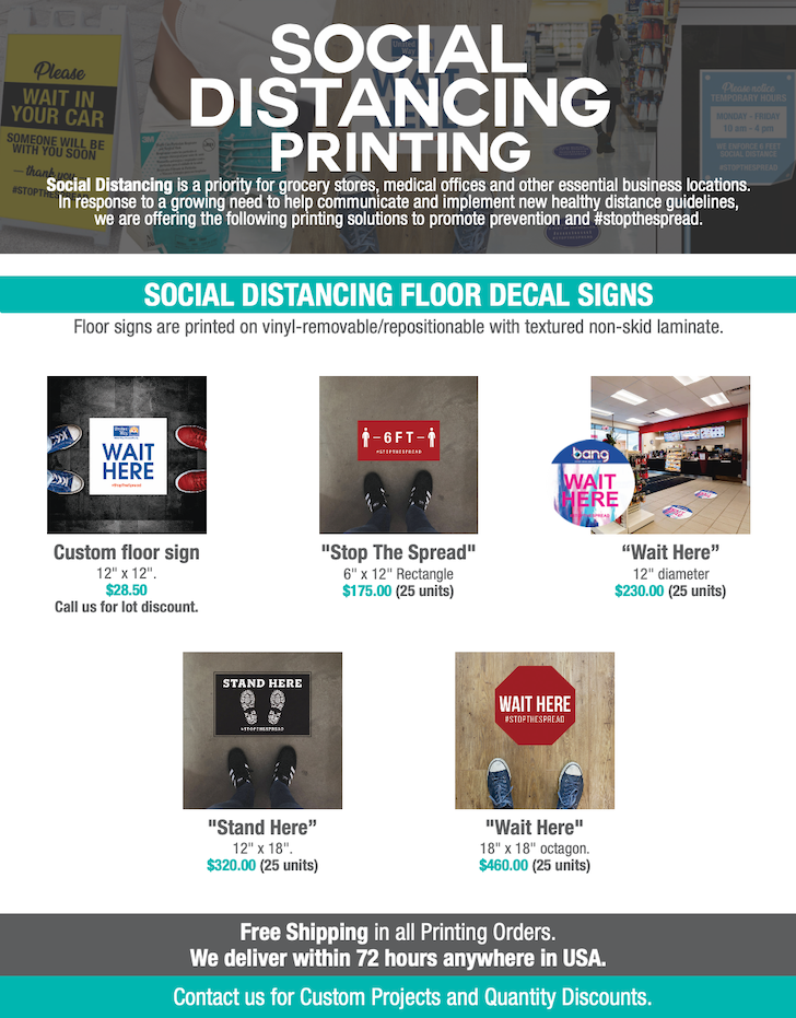 social distancing printing solutions in Florida
